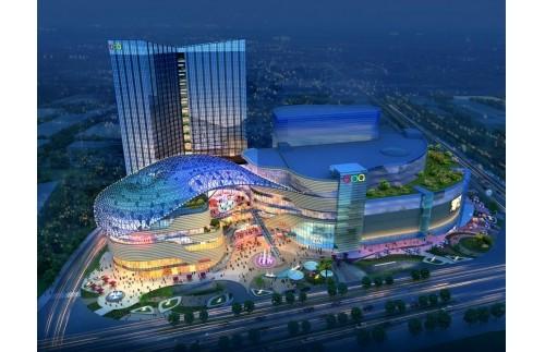 湖南湘潭步步高商业中心60万风量油烟净化器安装案例